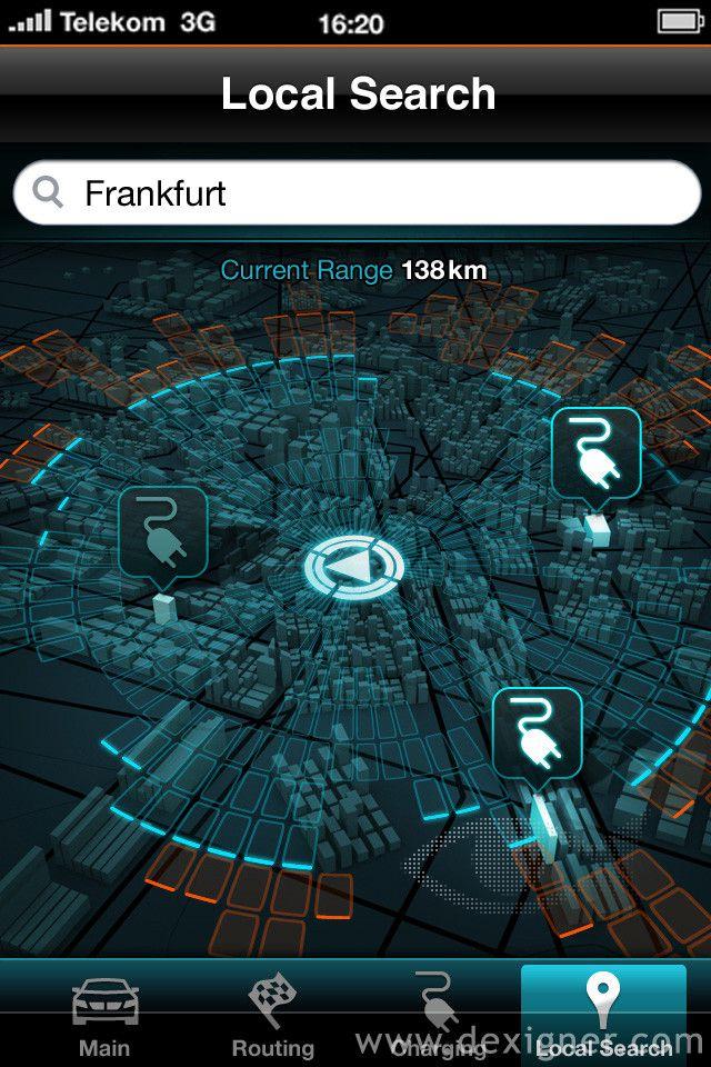 BMW i8 Concept Car - iPhone app