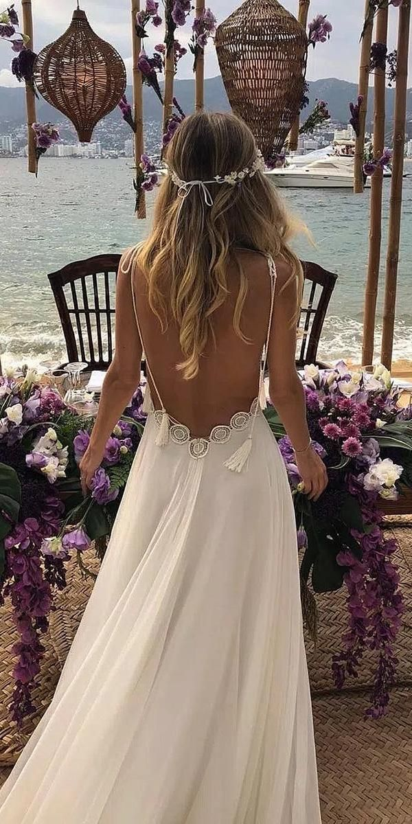 39 Boho Wedding Dresses Of Your Dream -  39 Boho Wedding Dresses Of Your Dream ❤  boho wedding dresses a line low back with spaghetti stra - #Boho #cuteoutfits #cuteweddingdress #Dream #Dresses #fashionjewelry #fashiontrends #pandoracharms #pandorarings #trendyoutfits #WEDDING #weddingbride
