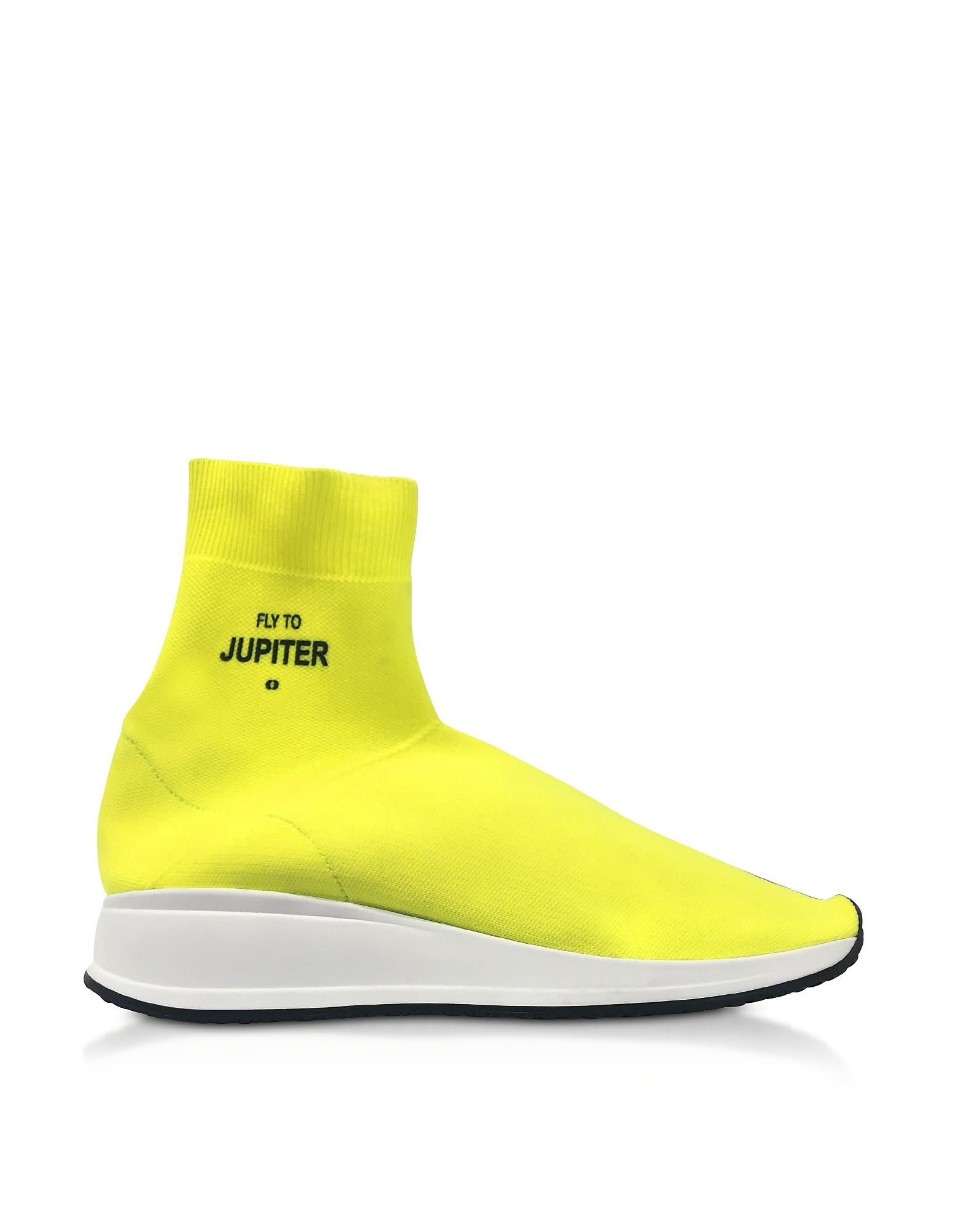 JOSHUA SANDERS Shoes, Fly To Mars Neon Nylon Sock Sneakers