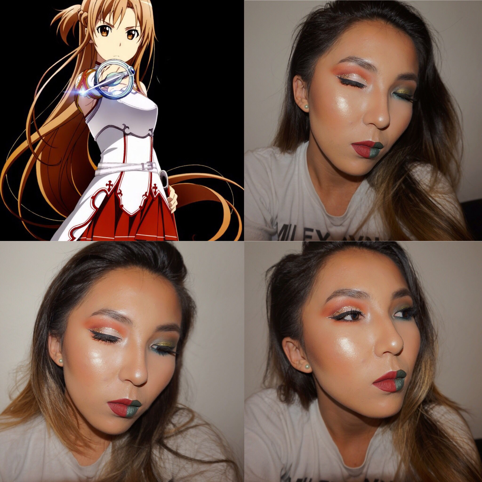 Makeup Look Inspired By Anime Character Asuna From Sword Art