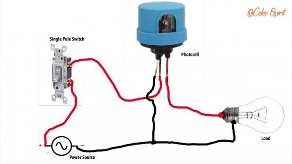 photocell with timer wiring diagram