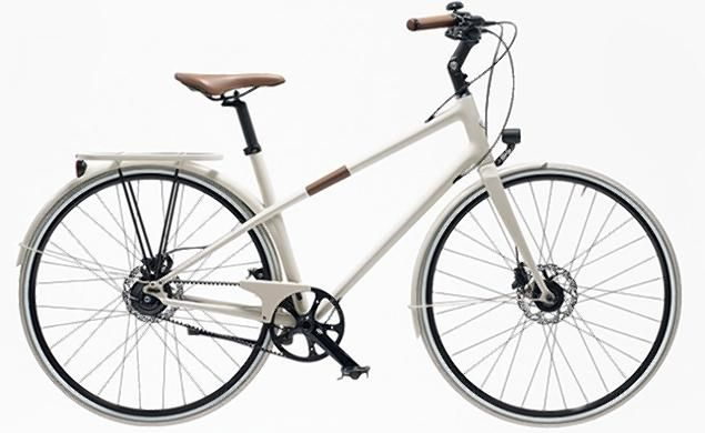 Hermès x Time Cycles: Le Flâneur d'Hermès This the designer's city bike: it has hydraulic brakes, 8 or 11 gears, a carbon fiber frame, and bull leather grips, saddle, and accents. This model and its sportier counterpart come in white, red, and charcoal.