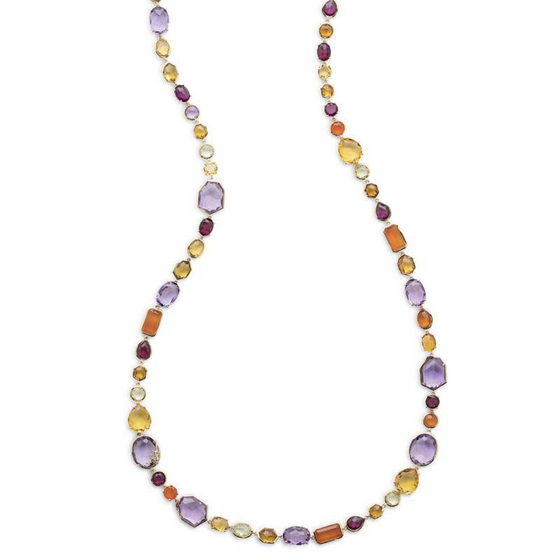 Ippolita 18K Rock Candy Sofia Necklace in Midnight Rain, 39.5