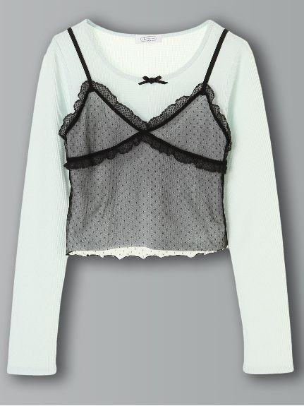 サーマルLSレースビスチェセット(Tシャツ)|E hyphen world gallery BonBon(イーハイフンワールドギャラリーボンボン)|ファッション通販 - ファッションウォーカー