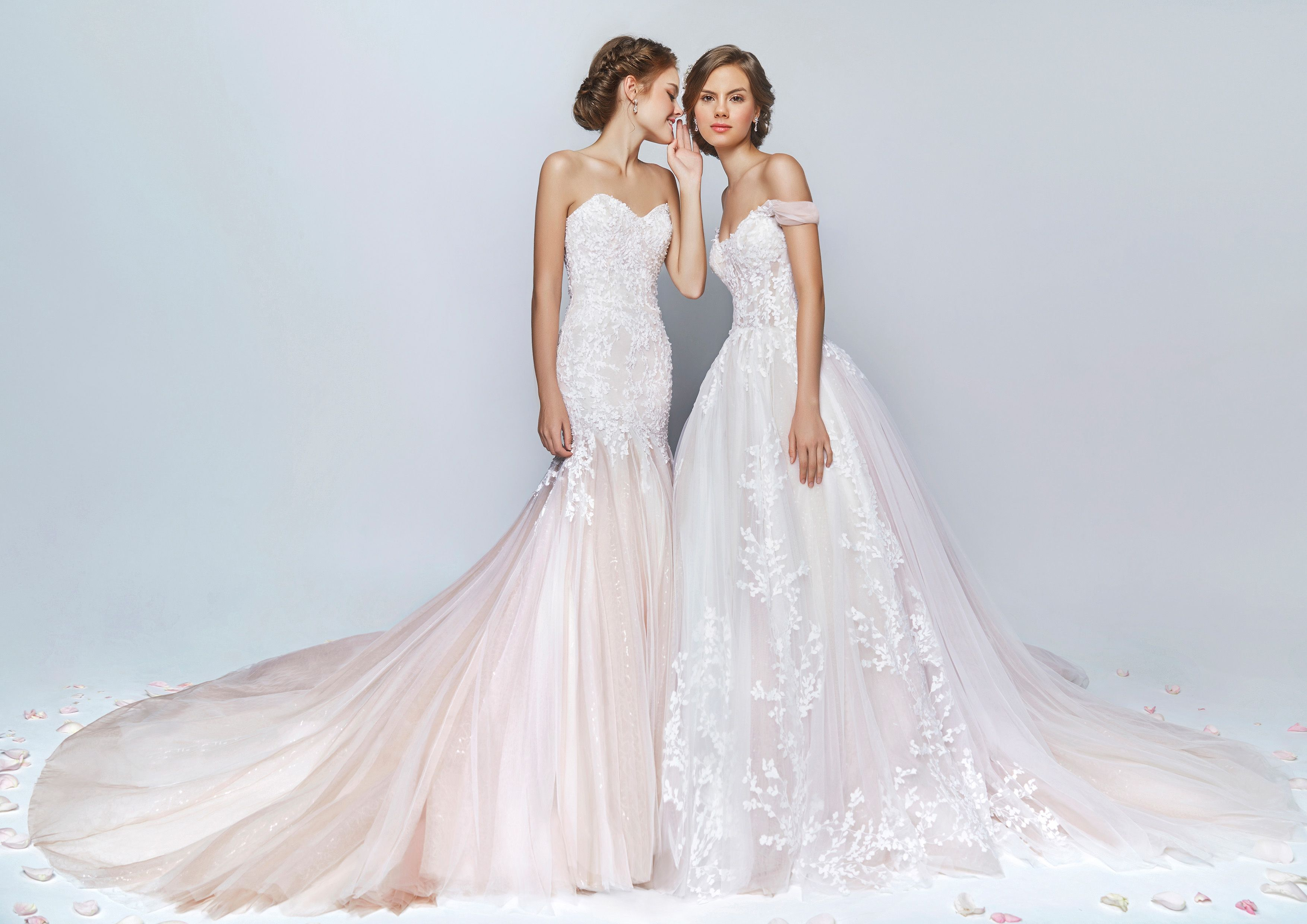 Wedding dresses rental  Coloured but subtle Wedding Dresses You Will Fall In Love With