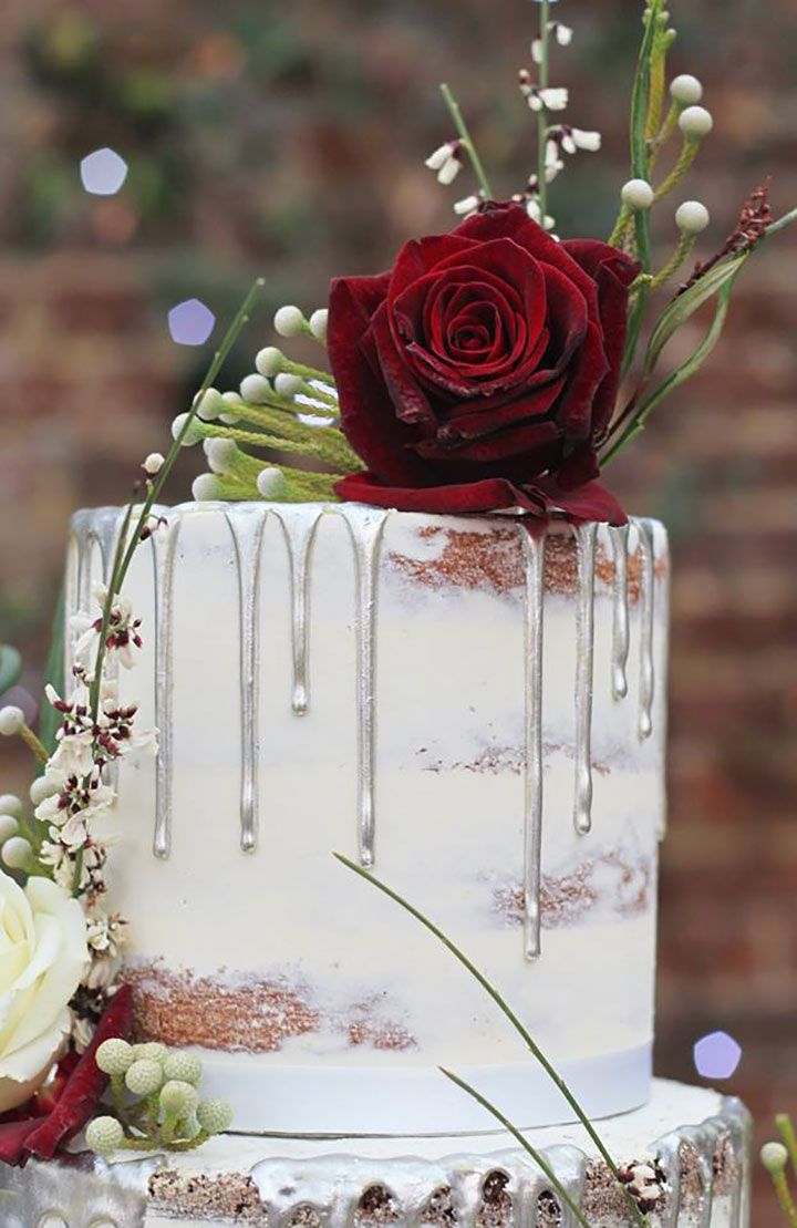 Metallic Drip Wedding Cakes from The Confetti Cakery ~ pretty close ...
