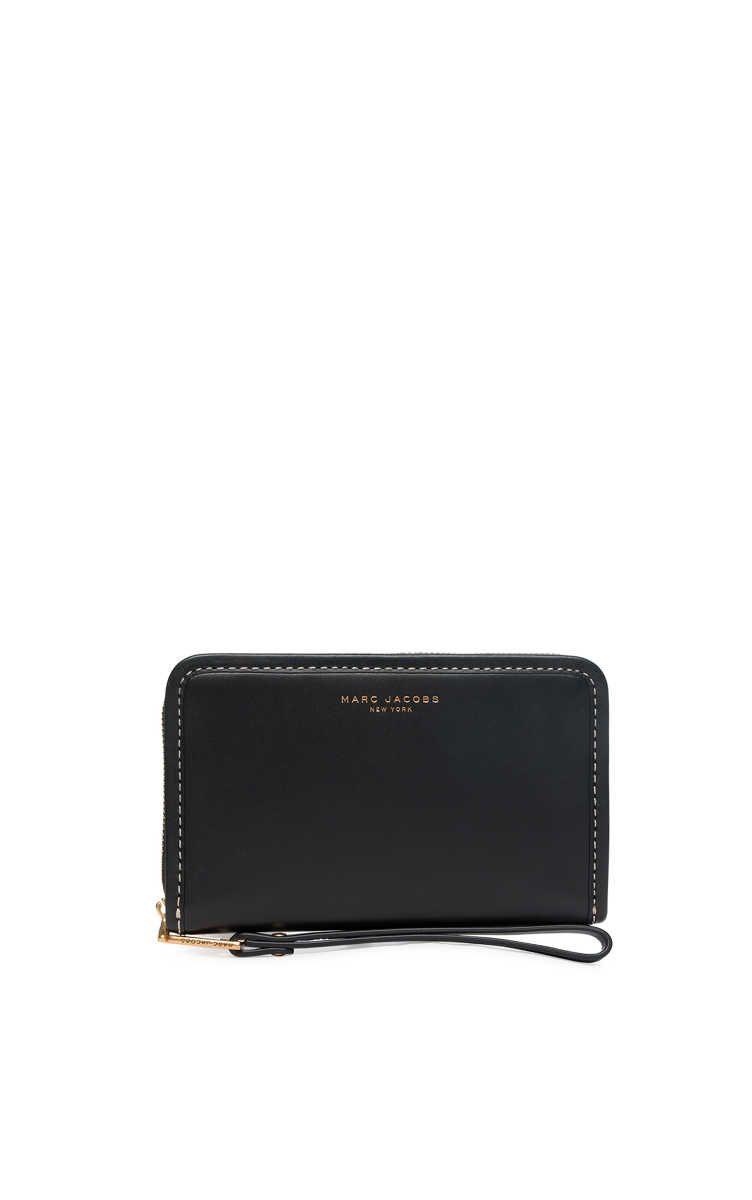 Plånbok Madison Zip Phone Wristlet BLACK/GOLD - Marc Jacobs - Designers - Raglady