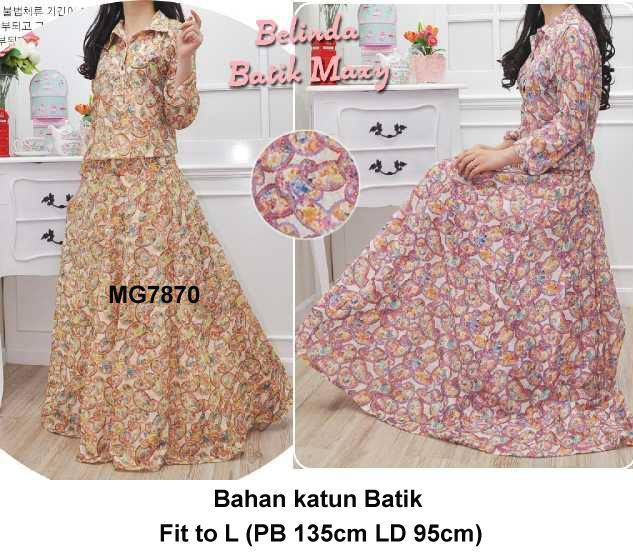 Baju Gamis Modern Terbaru  Detail produk model Gamis maxi batik