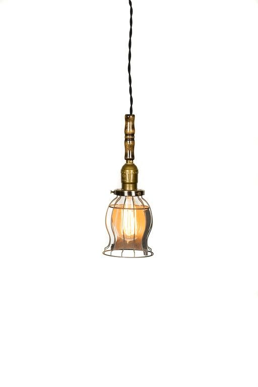 Vintage style open caged trouble light by junkyardlighting on Etsy, $115.00