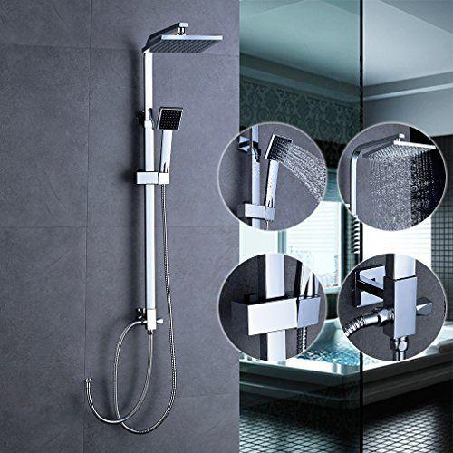 bonade dusche regendusche set duschset ohne duscharmatur f r badezimmer und badewanne mit 8 - Regendusche Set