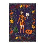Autumn Faerie Canvas Print #halloween #happyhalloween #halloweenparty #halloweenmakeup #halloweencostume