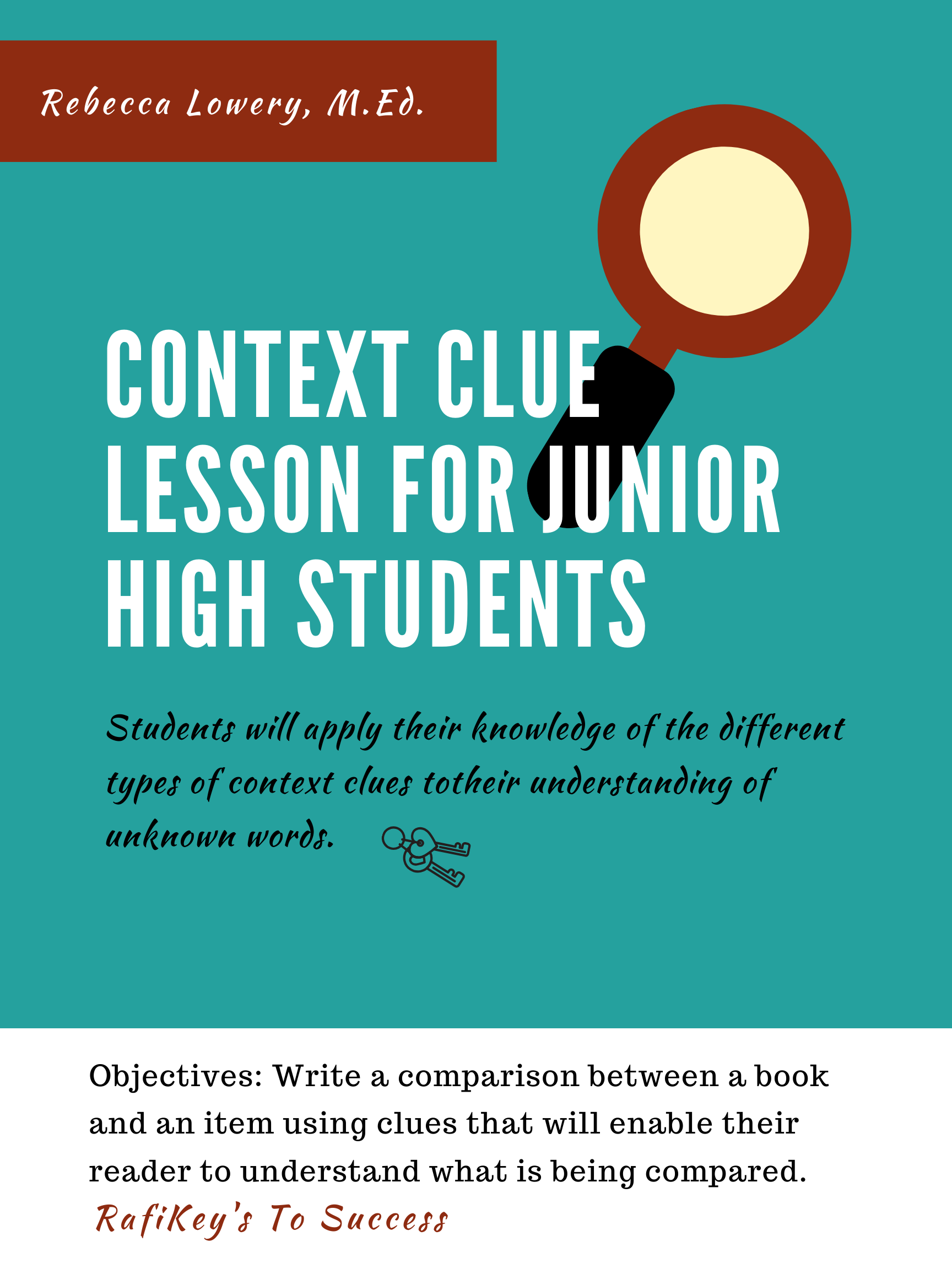Context Clue Lesson For Junior High Students In