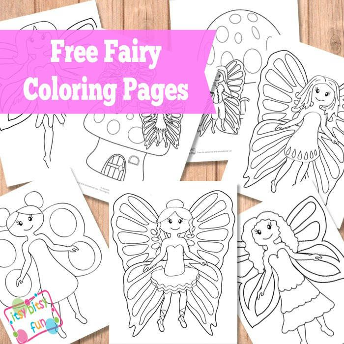 FREE Fairy Coloring Pages | Fairy, Craft and Kid printables