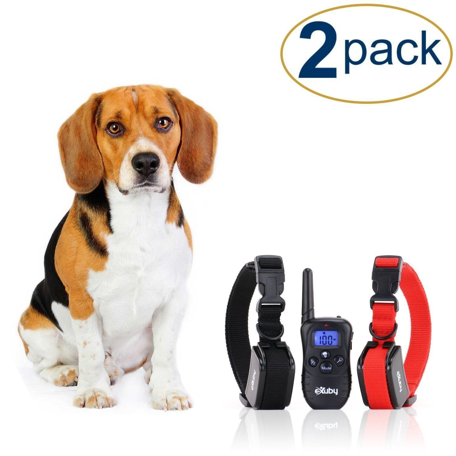 Exuby 2x Shock Collar For Small Dogs W 1 Remote And Training Dog