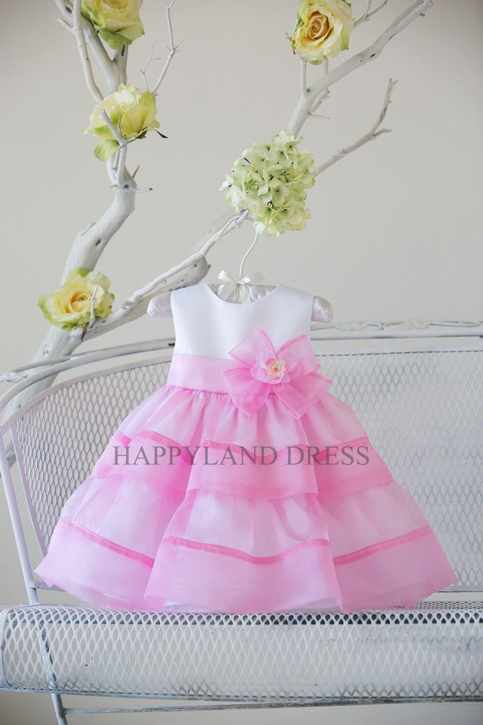 96489355f B816 Satin with Organza Baby Dress (3 Diff. Colors) – Happy Land ...