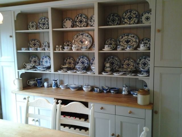 My New Bespoke Welsh Dresser In Dining Room Painted Farrow Ball Hesian