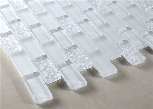 Powder Room Buy 12x12 Vintrav Snow Flake 1 X 2 Glass Mosaic