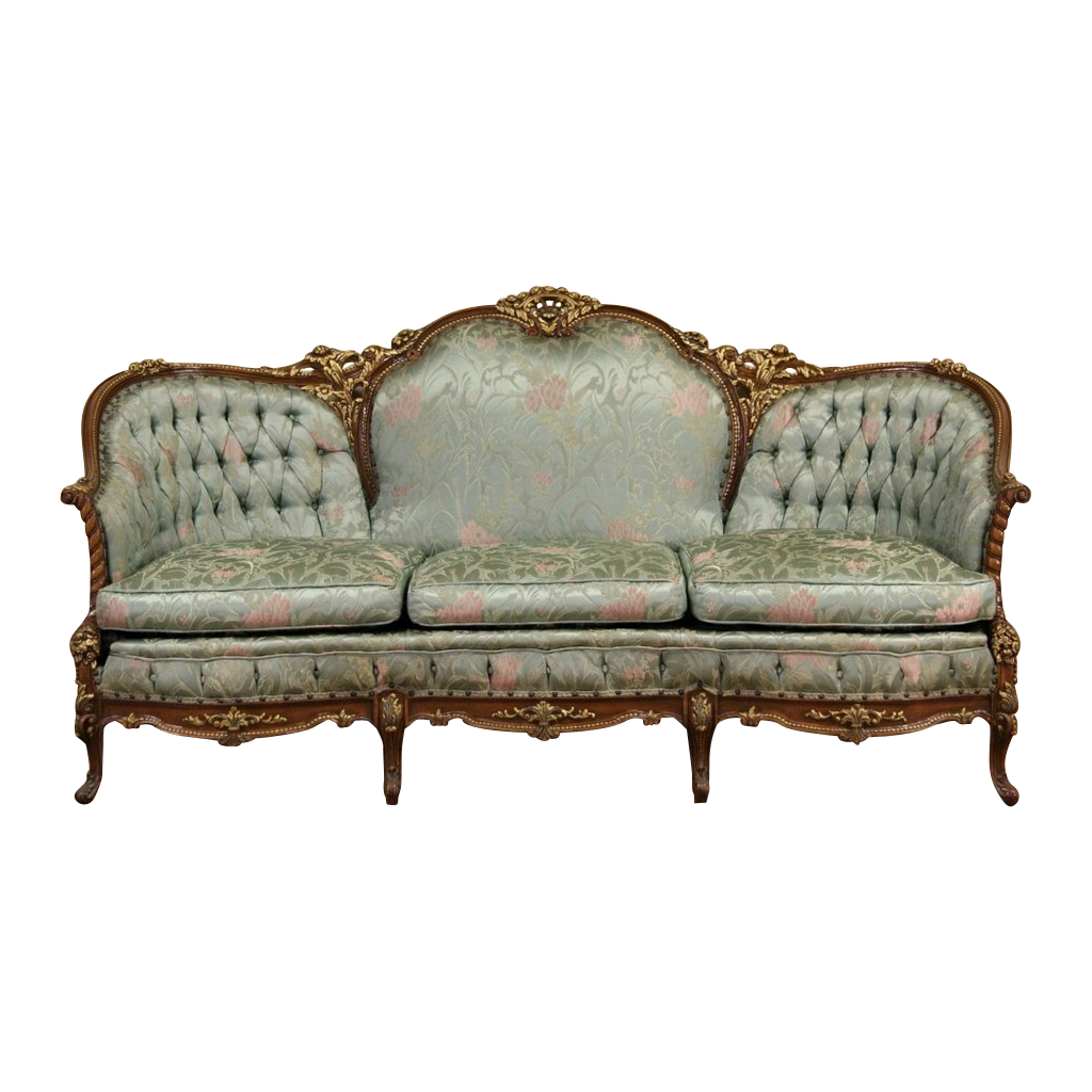 French Style Carved 1940 S Vintage Sofa Original Found On