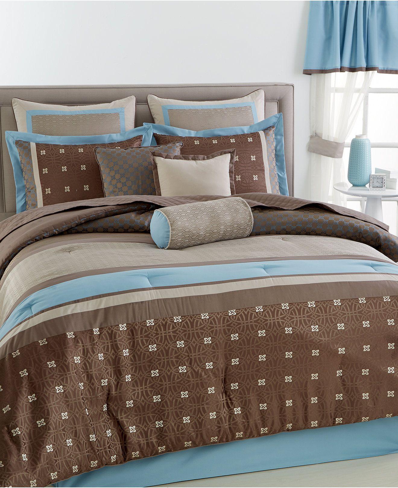 CLOSEOUT! Surrey 22-Piece Queen Comforter Set - Bed in a ...