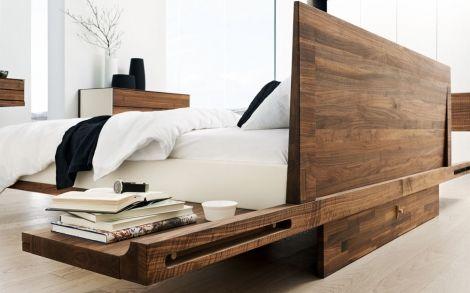 Schlafzimmer von TEAM7 Bett mit Nachtisch Team7 2 | Mobilya ...