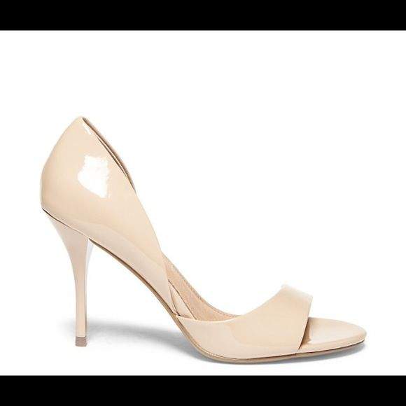 5fce04fc060 DRNKNLUV shoe by Steve Madden Beige patent nude peep toe sexy ...