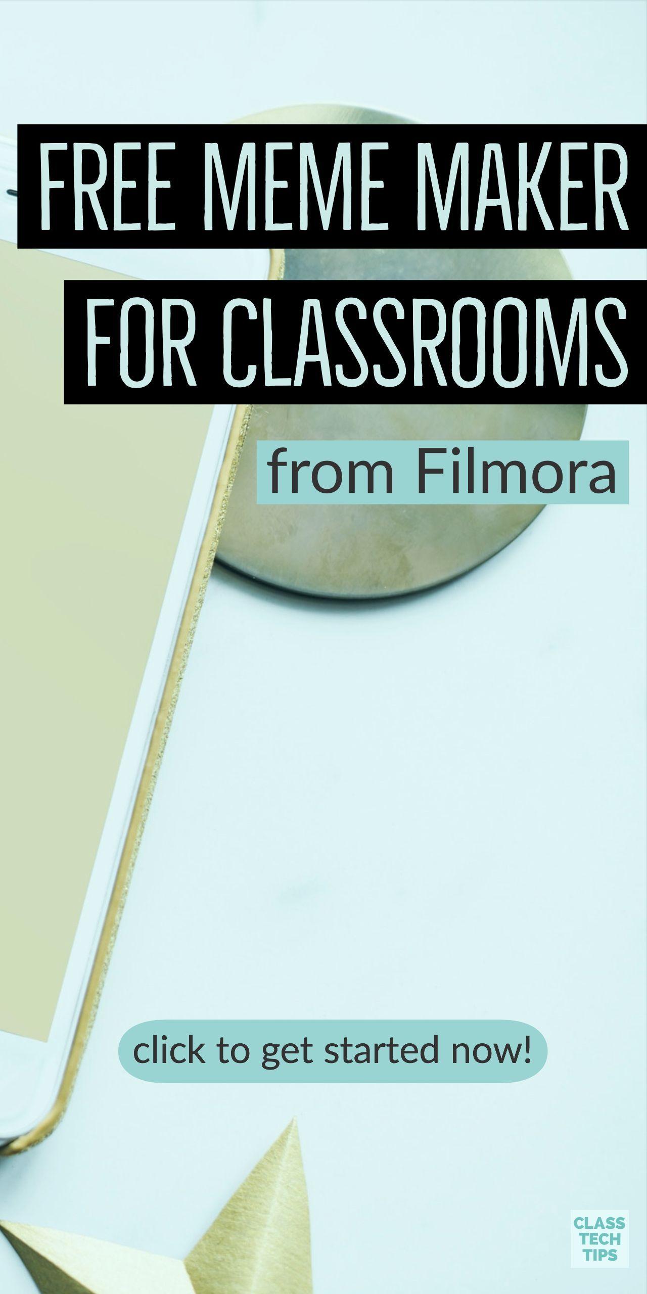 Free Meme Maker for Classrooms from Filmora Class Tech