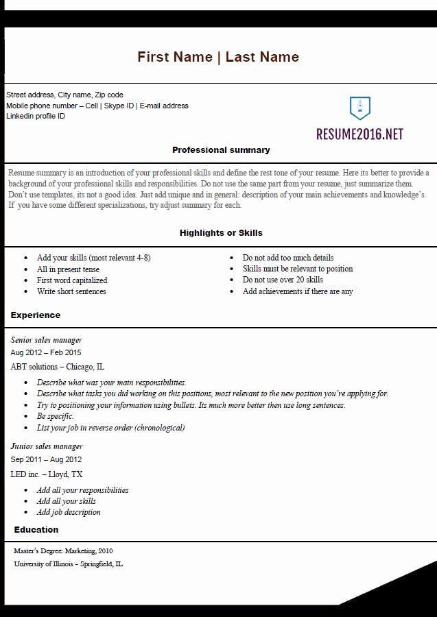 free word resume templates 2016 best of free resume