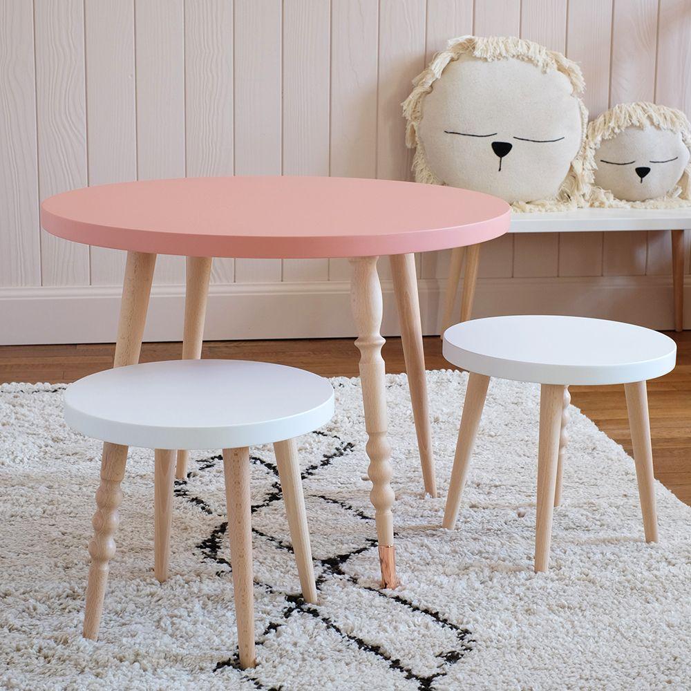 Table Et Tabourets Chambre Enfant Et De Bebe Table Basse Tabouret Design Mobilier De Salon