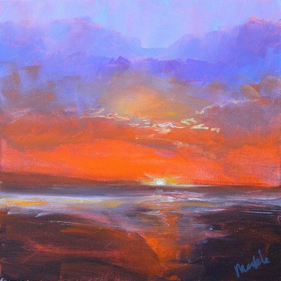 Coastal Sunset Western Seascape Pacific Ocean By