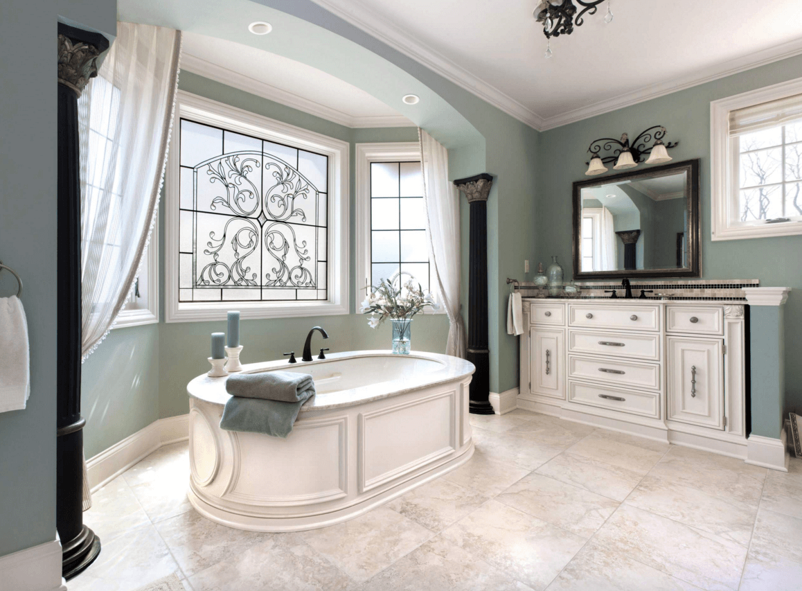 10 New Colors For Bathrooms Some Of The Cutest And Exciting Too Green Bathroom Colors Traditional Bathroom Green Bathroom Paint