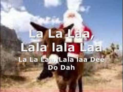 La La Laaaa Christmas Donkey Funny Lyrics Favorite Christmas Songs
