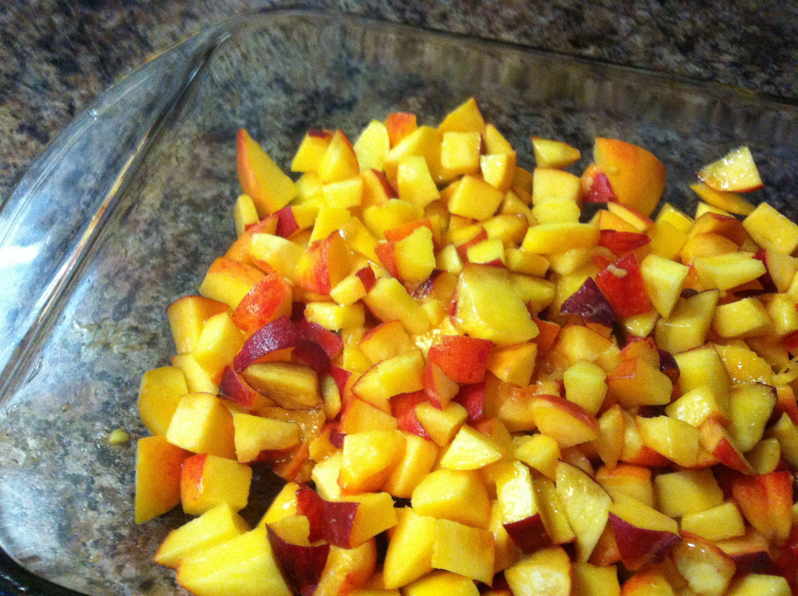 Summer Peach Crumble (Gluten Free)