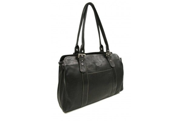 46613220cb60 Piel Leather Ladies Buckle Laptop Tote