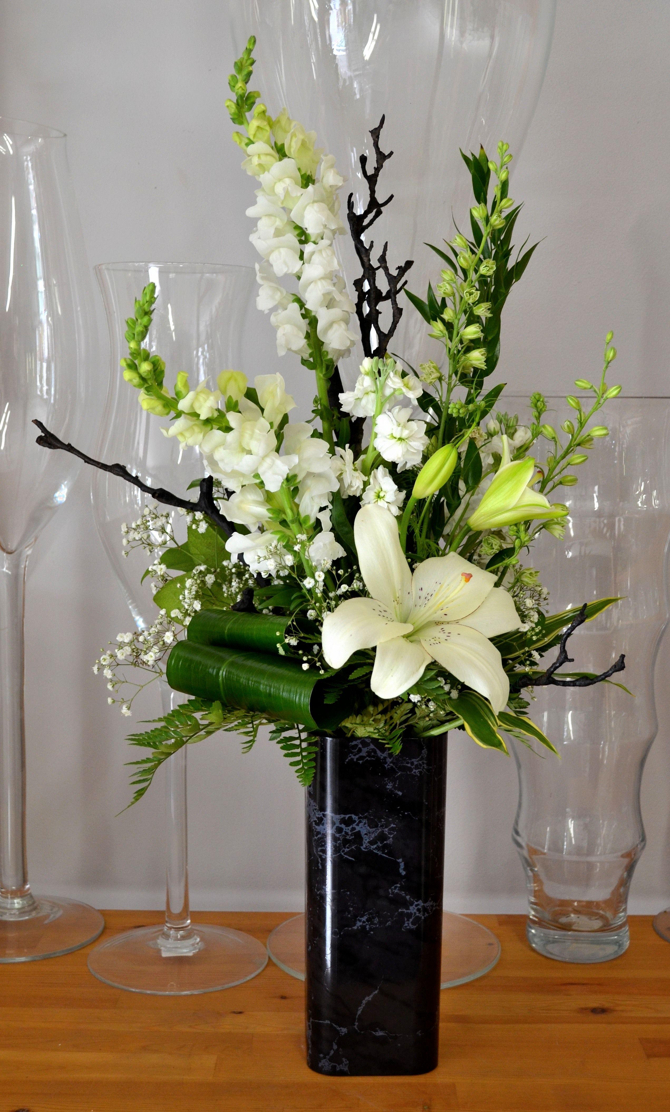 Modern Tribute for a Man Funeral floral arrangements