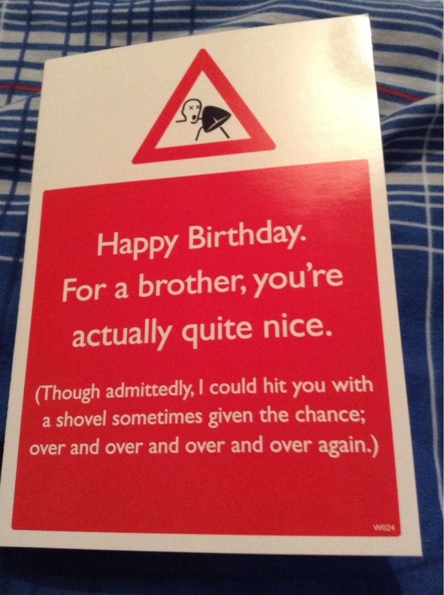 I turned 19 today, this card was from my sister. The