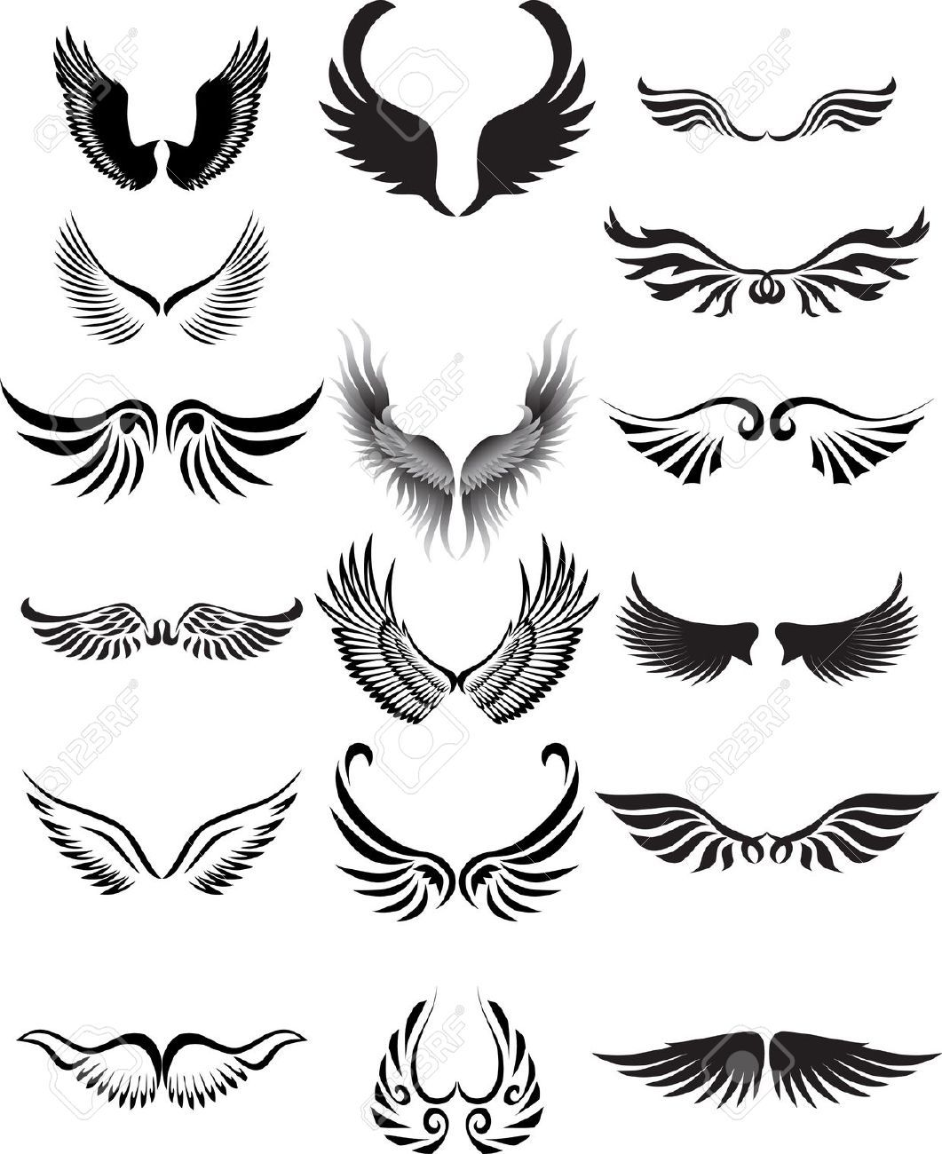 Stock Vector wings