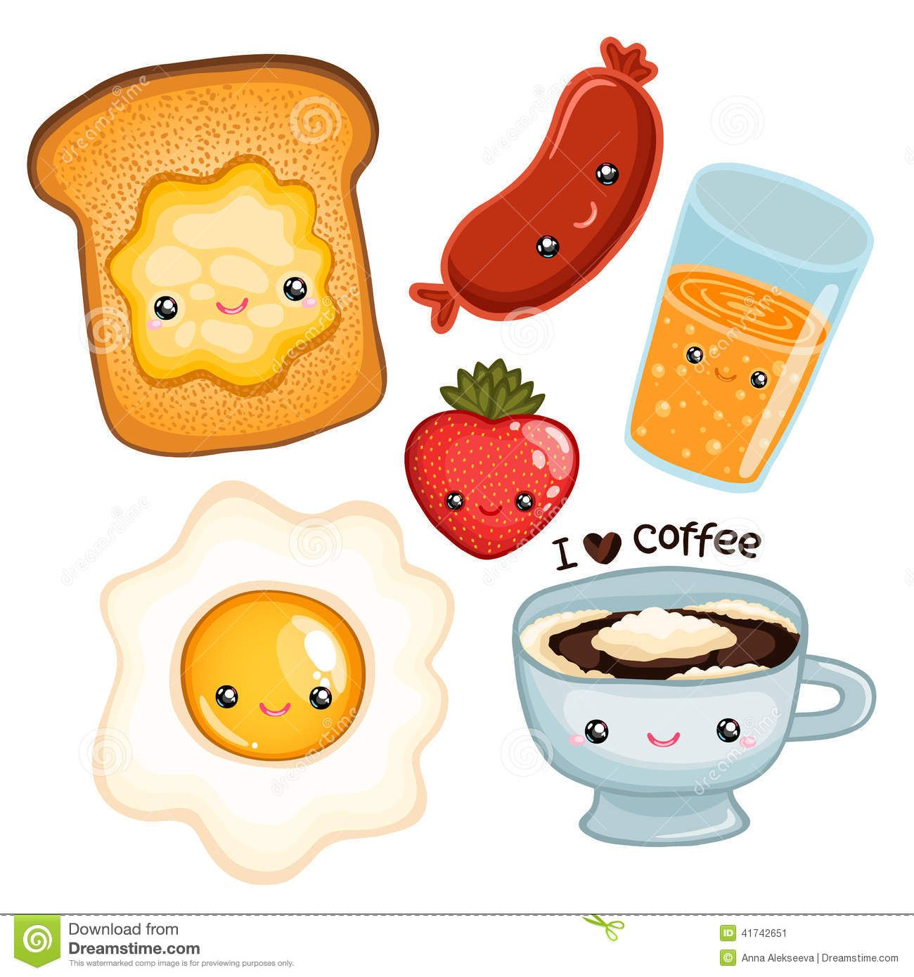 Cute breakfast food vector image download from over 52 for Animation cuisine