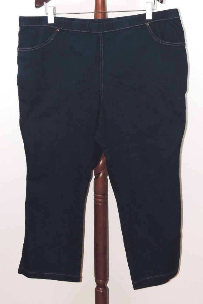 bcd2f09ecaf JMS Just My Size 4X 26W 28W Petite Stretch Jeans Jeggings Blue Rinse   JustMySize  Leggings