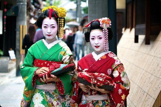 Japanese Geisha and Maiko Deens Wonder Japan Kyoto  Japan  Geisha women   Stock Image