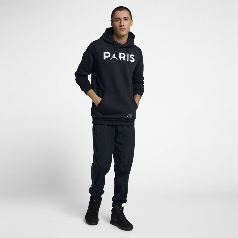 b4aba07e53e Paris Saint-Germain Jumpman Men's Pullover Hoodie - Black | Products ...