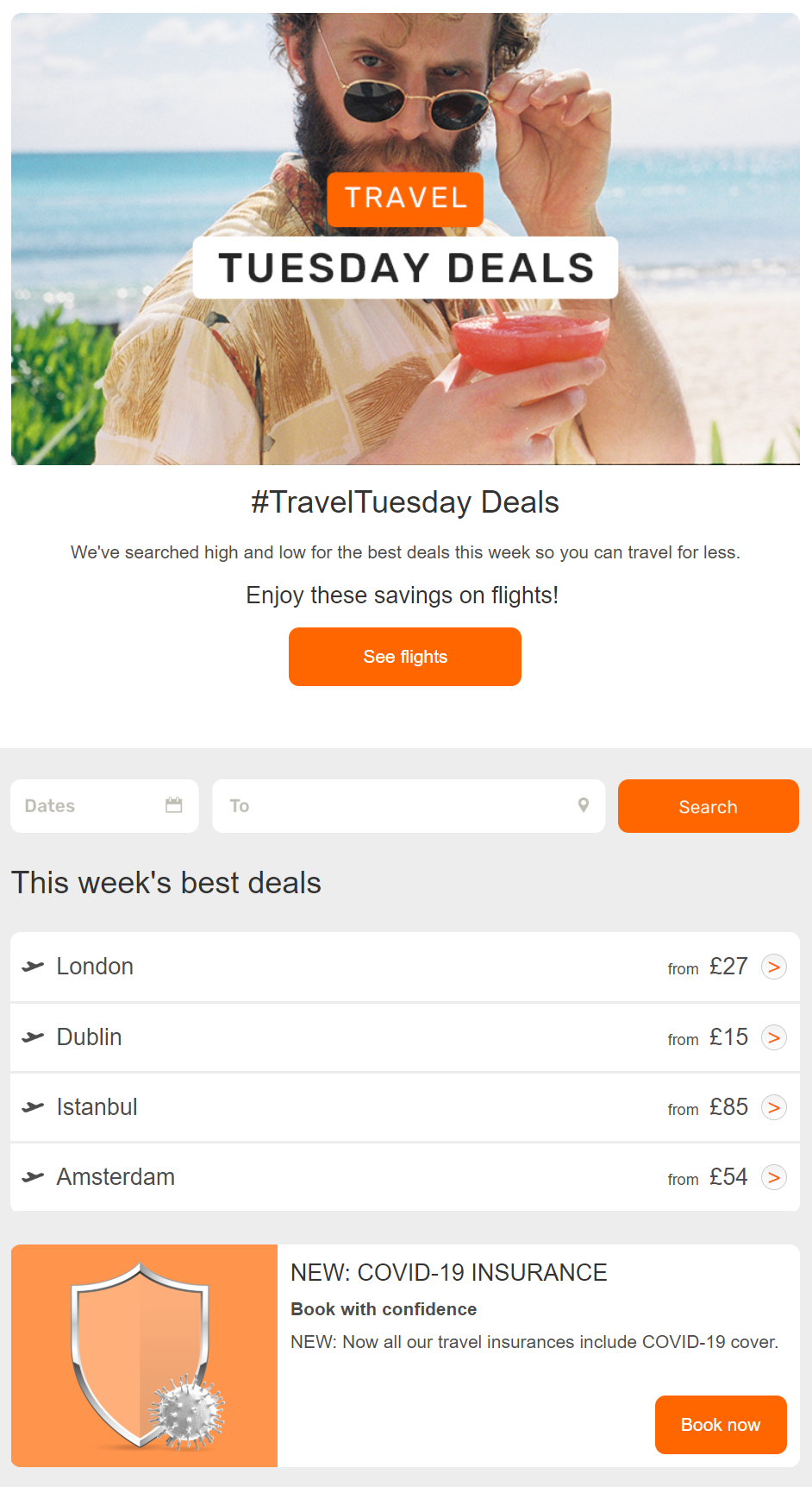 Traveltuesday Deals Opodo S Travel Email Campaign In 2020 Travel Hospitality Industry Marketing