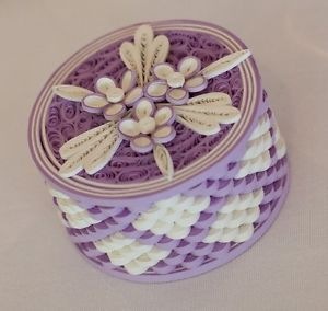 65 Handmade Quilled Wedding Favour Boxes in Lilac & White | eBay