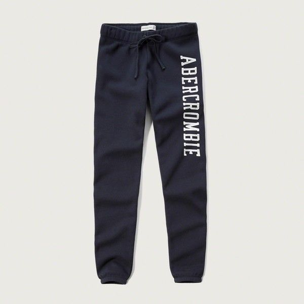 Womens Sweatpants & Joggers | Abercrombie.com ❤ liked on Polyvore featuring activewear, activewear pants, jogger sweat pants, jogger sweatpants, sweat pants, abercrombie fitch sweatpants and american sportswear