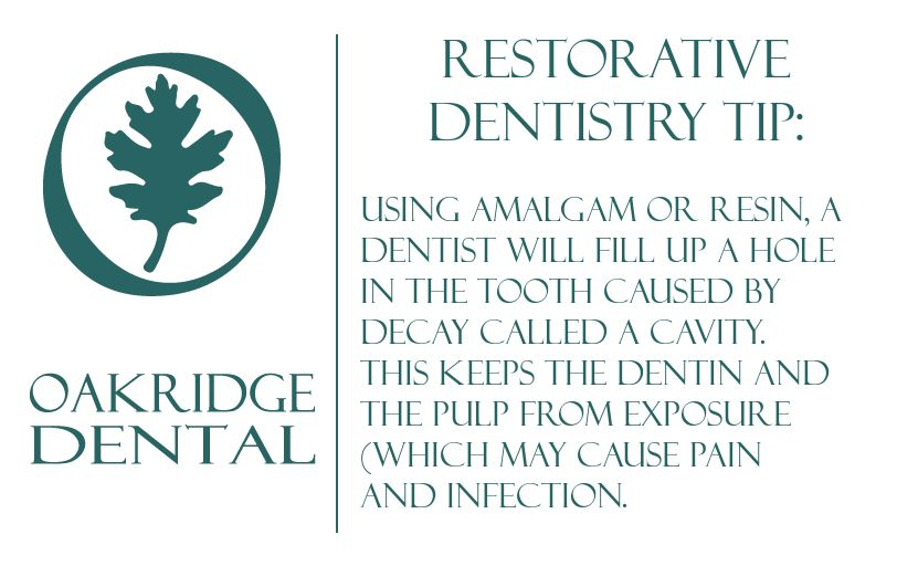 Restorative Dentistry tip Using amalgam or resin, a
