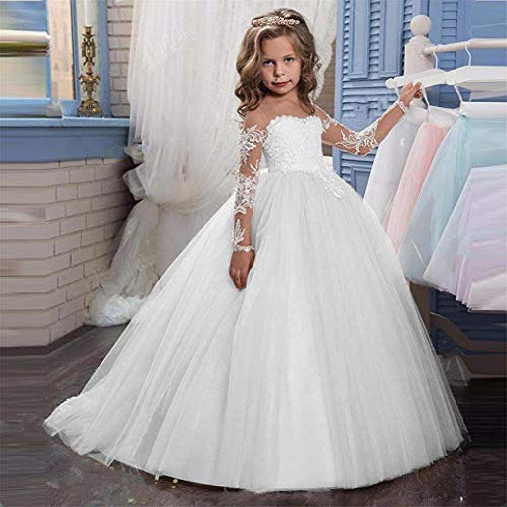 Spitze Applique Gestickte Kinder Prinzessin Hochzeit Brautjungfer