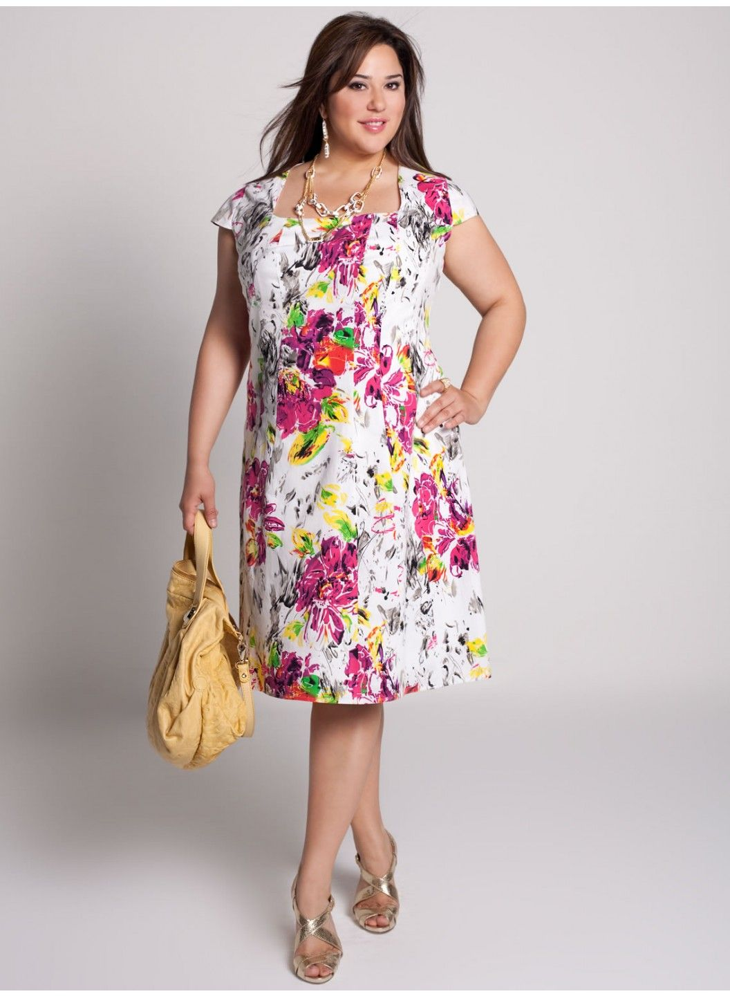 Summer dress. Floral plus size dress | Plus size dresses ...
