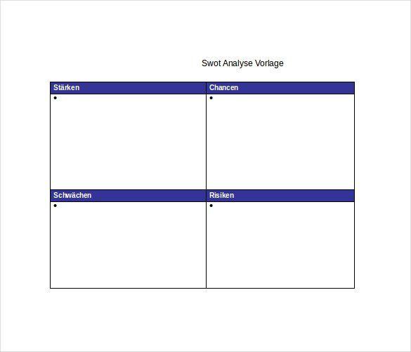 24+ SWOT Analysis Templates | Word, Excel & PDF Templates ...