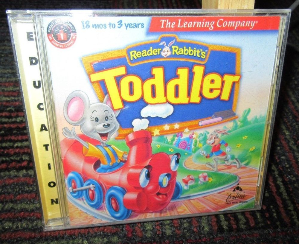 READER RABBIT TODDLER PC CD ROM, AGES 18 MOS 3 YEARS
