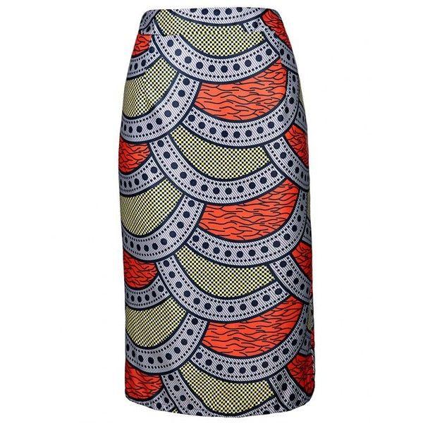 High-Waisted Printed Pencil Skirt ($6.49) ❤ liked on Polyvore featuring skirts, high waisted pencil skirt, high-waist skirt, high rise skirts, high waisted knee length skirt and wide skirt