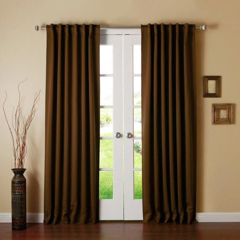 Best Home Fashion Blackout Curtain Panels Chocolate Solid 132